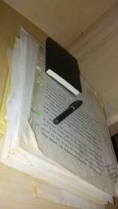 Notes in the margin, Hi-Liter marks, coffee stains -- yeah, that's an old manuscript. The original version of Twisted is 424 pages, or about 120,000 words.